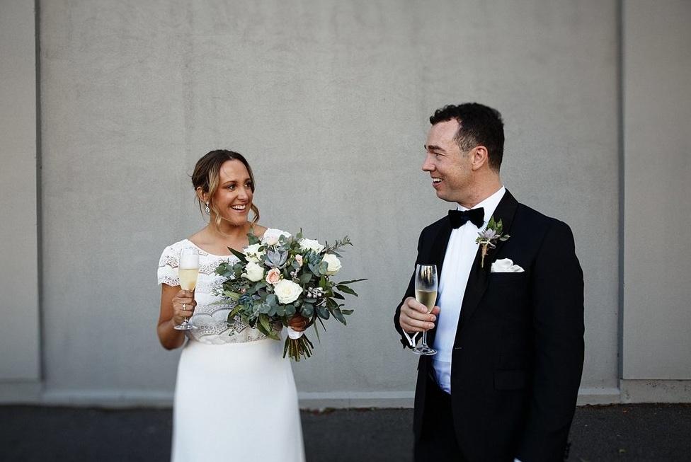 canvas house wedding industrial wedding
