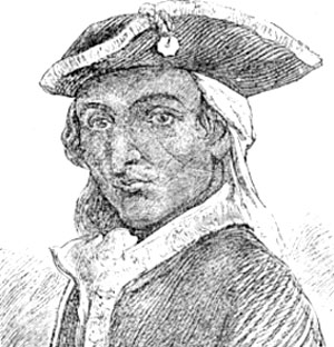 Drawn portrait of Capt. Aupaumut