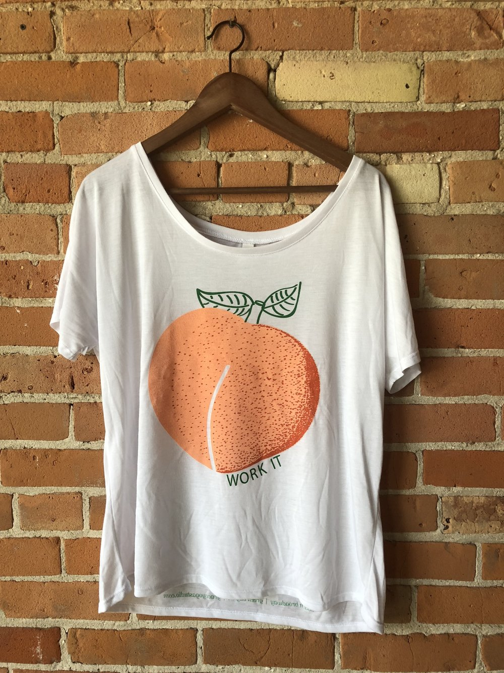 - Work It Peach Boat Neck T-Shirt$18