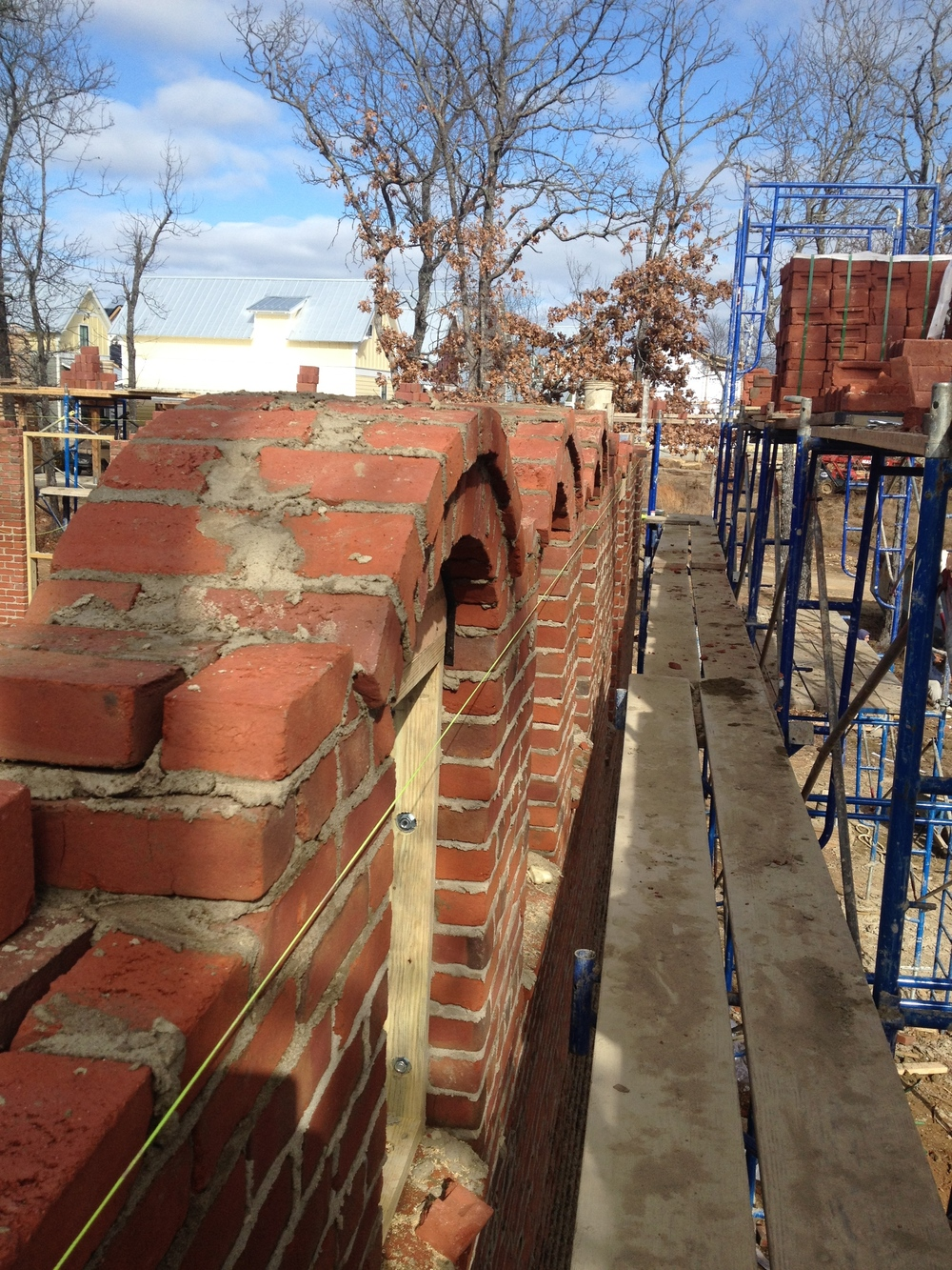 structural masonry, row of clerestory arches