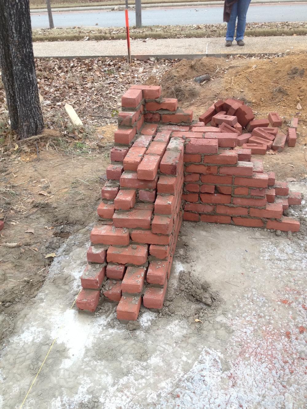structural masonry, quad wythe corner lead