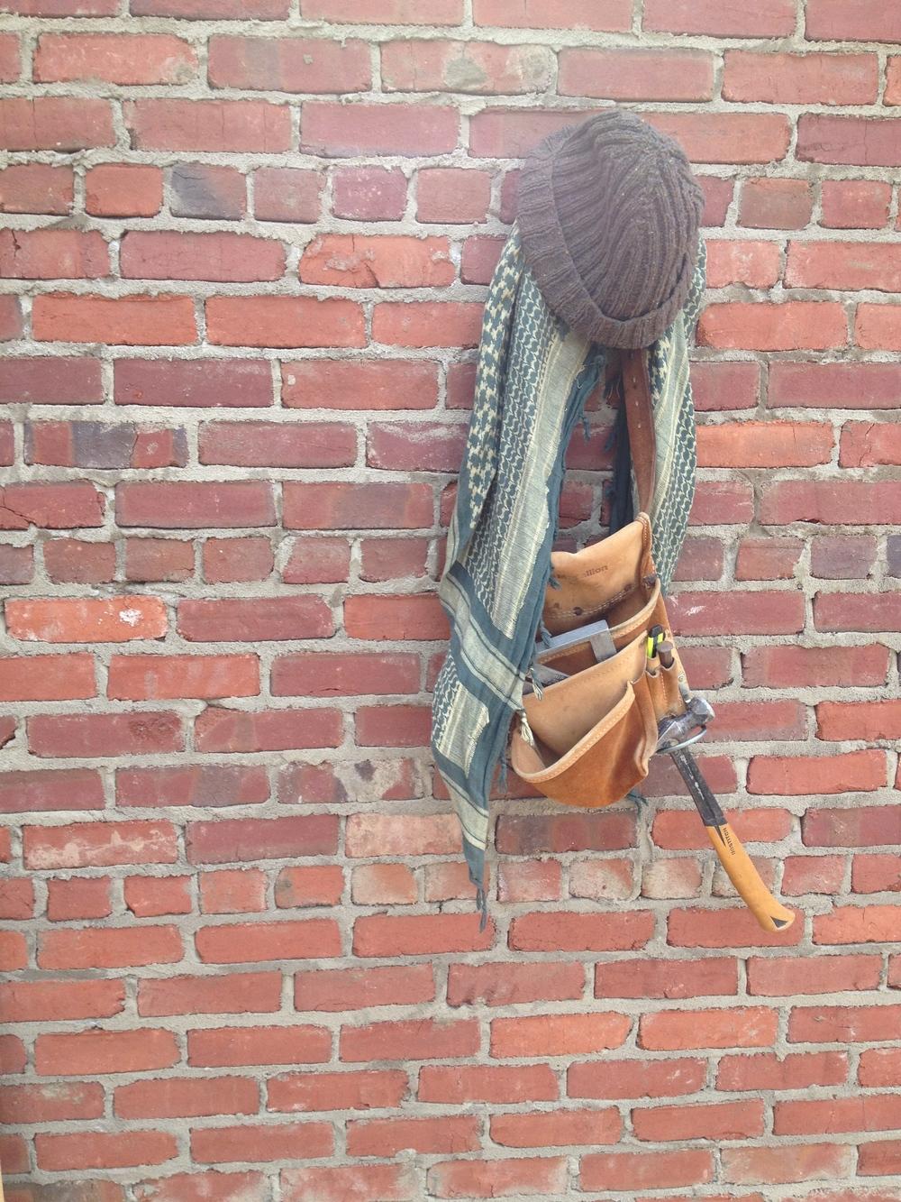 structural masonry, common bond hat rack.