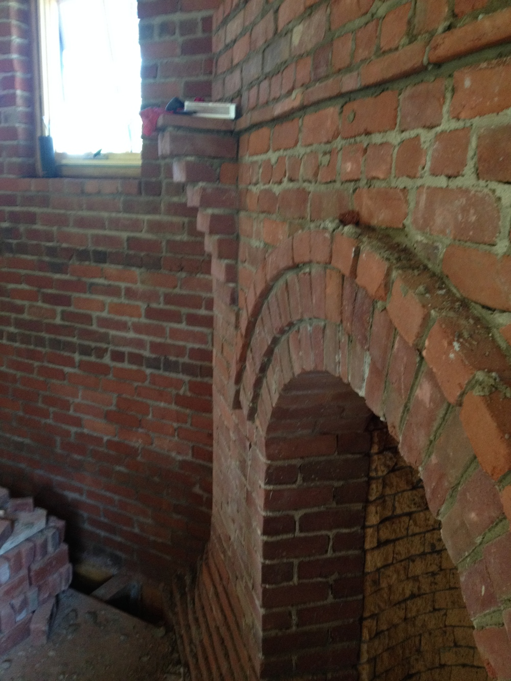 fireplace mantle ledge, structural masonry