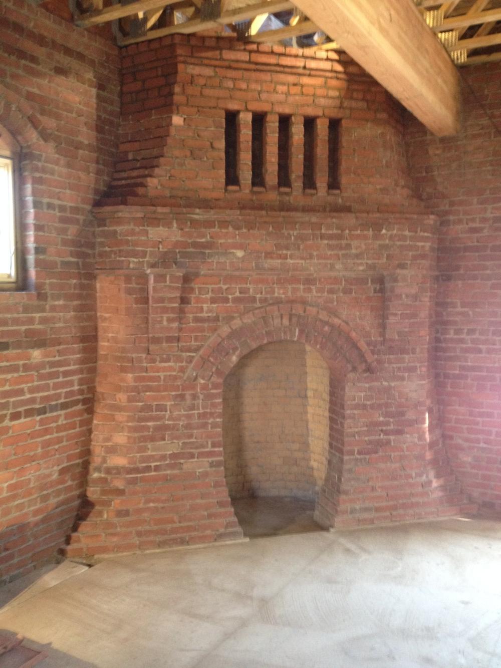structural masonry, fireplace