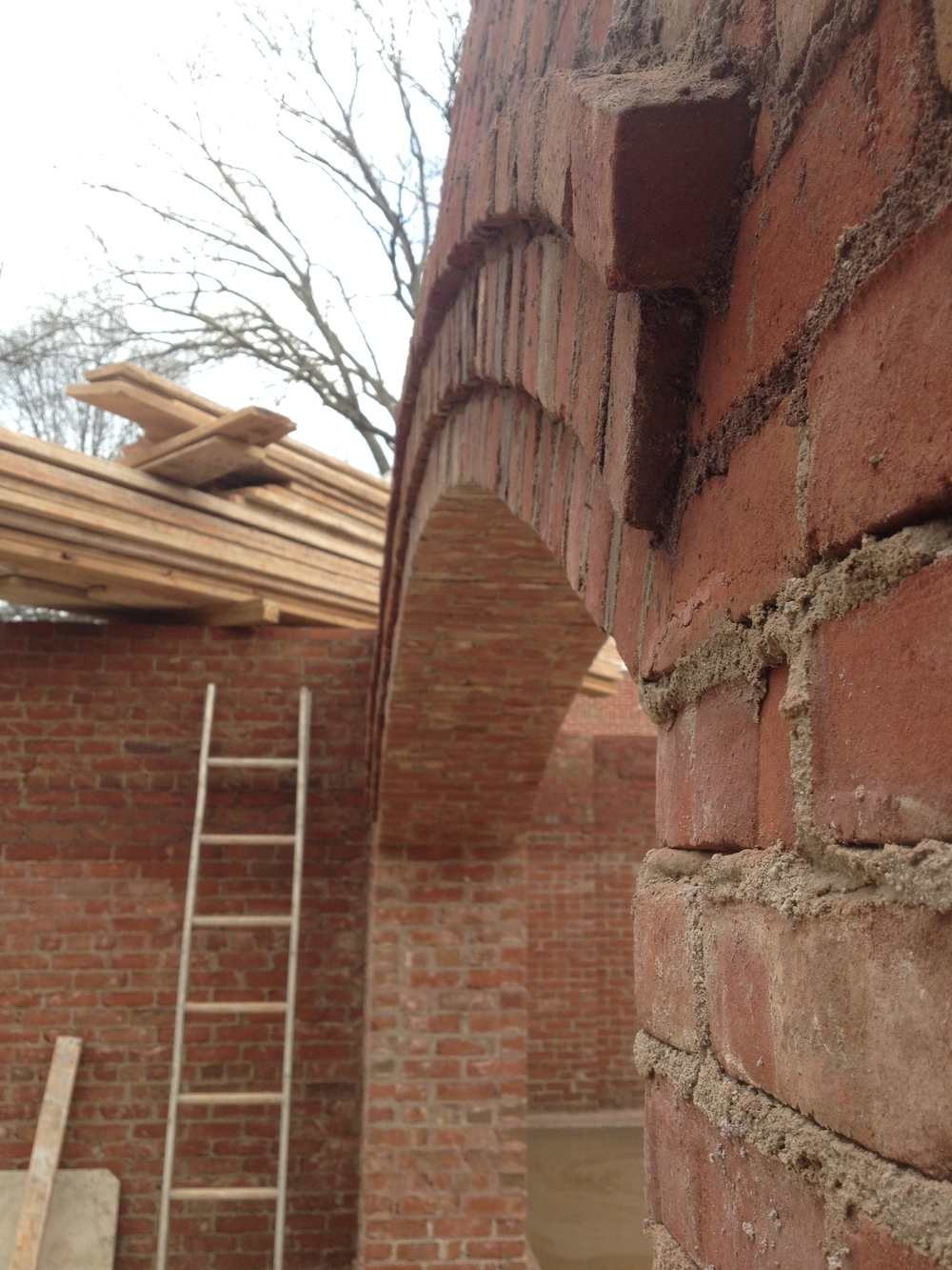 structural masonry, corbel arch perspective