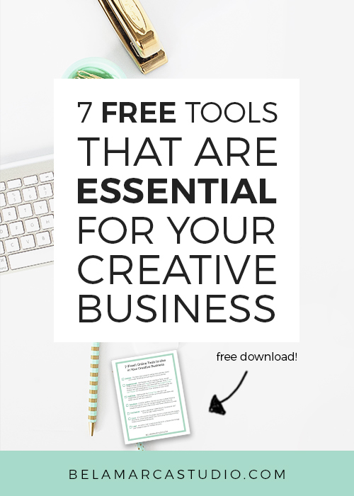 7 (free!) Tools that are ESSENTIAL for Your Creative Business | BelaMarca Studio
