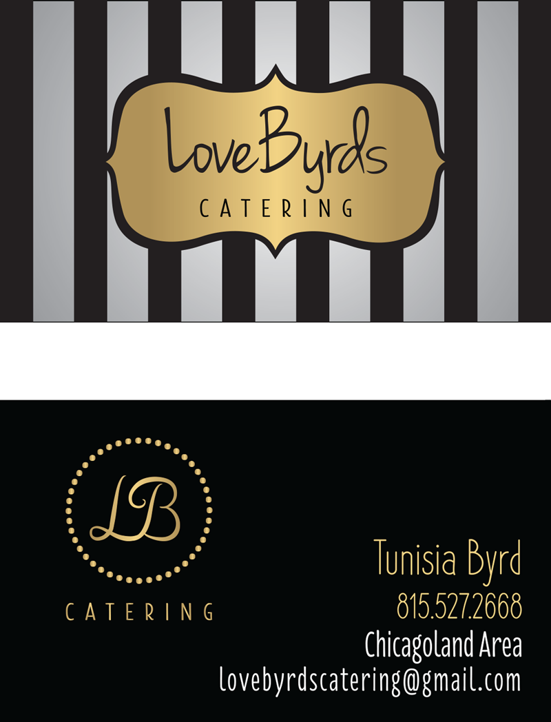 LoveByrds Catering | Business Card Design | BelaMarca Studio
