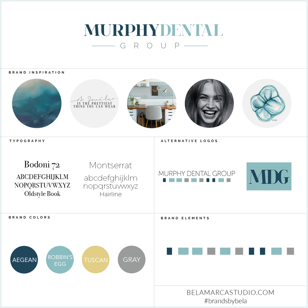 Murphy Dental Group | Brand Style Guide | BelaMarca Studio