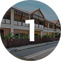 TOWNERVILLE - 2 Bedroom black and white colonial townhouses near Serangoon Roadfrom S$4,500