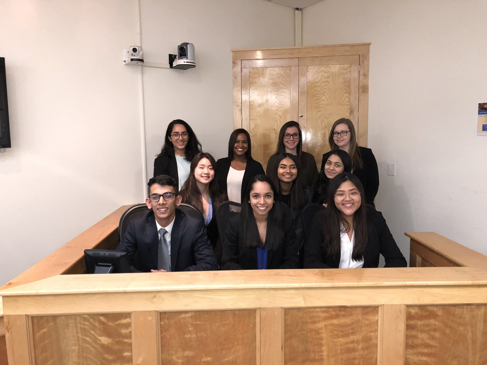 Top, left to right: Aabha Joshi, Coach Zaniah Maynor, Coach Rachel Holt, Michelle Fishman Middle: Zoe Chang, Hasin Tasneem, Shivangi Patel Bottom: Karan Malhotra, B-Team Captain Anu Chugh, Lucy Huang