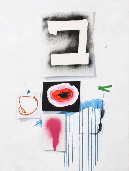"""HEAR SOUND SEE COLOUR,  Acrylic on canvas,  36 """" x 47.5"""", 2011"""
