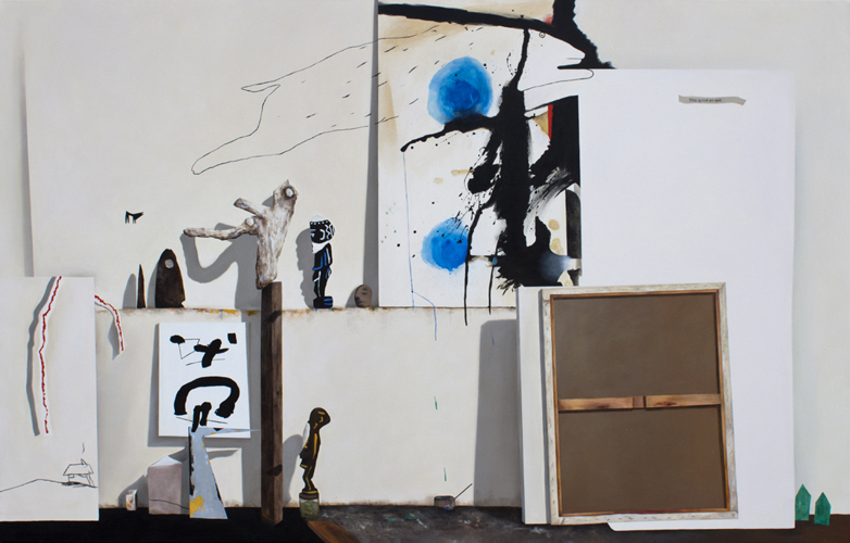 """Invasion, 2011 (from Gregor Hiltner Studio Visit) 2011, oil on canvas, 65"""" x 102"""""""