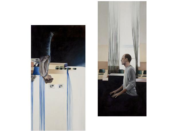 "PPSCU02, 2011, oil on canvas, 42"" x 18"" / PPSCU03, 2011, Oil on canvas, 46"" x 24"""