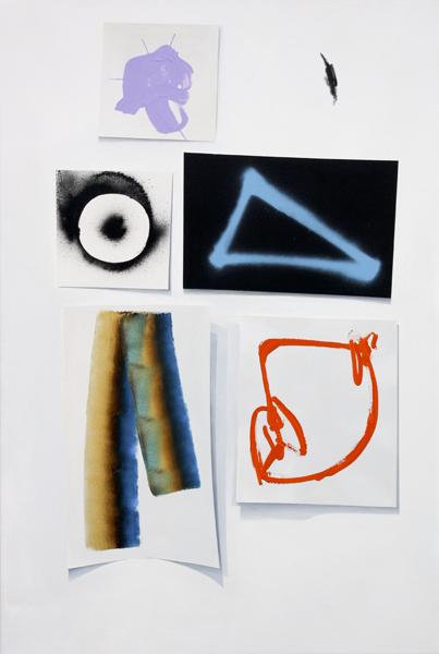 """THE LAST WORD,  Acrylic and spray paint on canvas,  36"""" x 54"""", 2011"""