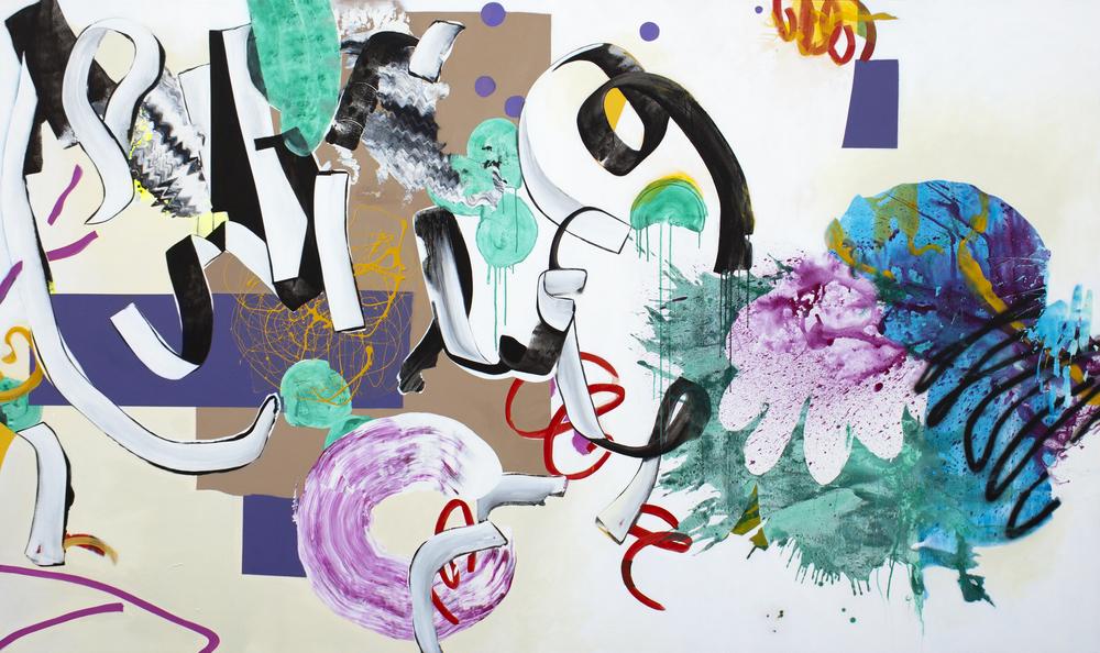 "The Echo,2014. Acrylic on canvas 126"" x 75"""