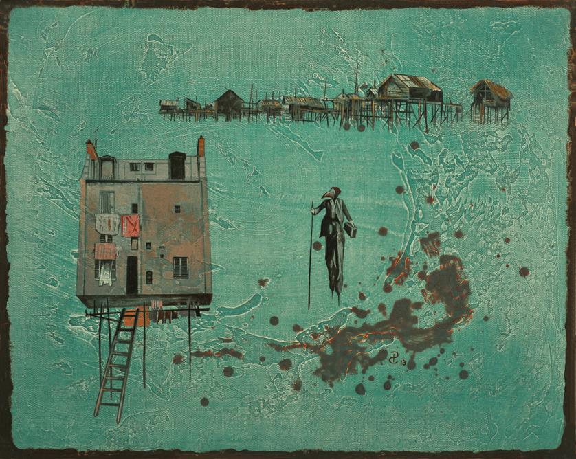 2 Money Collector   Acrylic on Canvas 41 cm x 51 cm .JPG