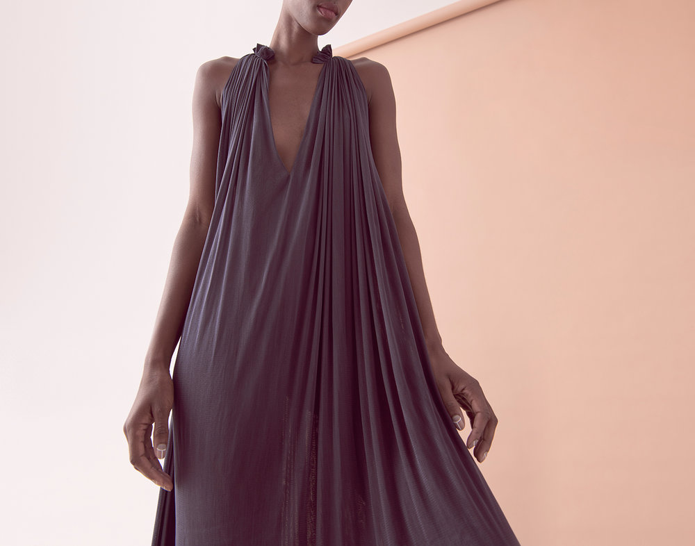 LOOK 08   –   SILK MESH STEP FRONT DRESS