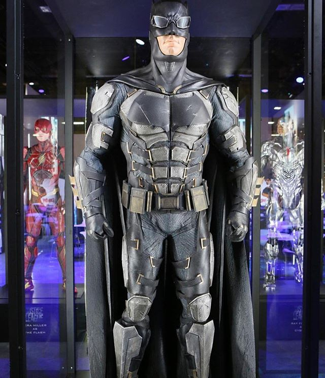 Justice League costumes currently on display in Las Vegas. How do you guys feel about Batmans new suit? (Posted by @legendsoflegobatman) #batman #justiceleague #dccomics #batfleck #wonderwoman #comics #movies #picoftheday #cosplay #superhero #superman #marvel #starwars
