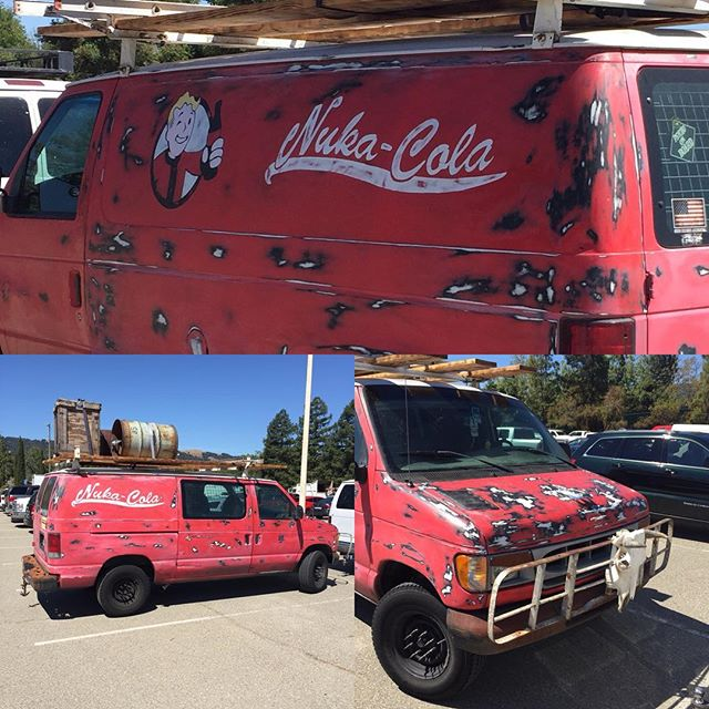 I'm working the #goodguyscarshow at the #pleasantonfairgrounds and I find this beauty in the parking lot.  Gonna be a good day! #fallout4 #nukacola #falloutgame #fallout