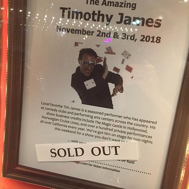 Another sold out show at my favorite place to perform! @calmagictheatre