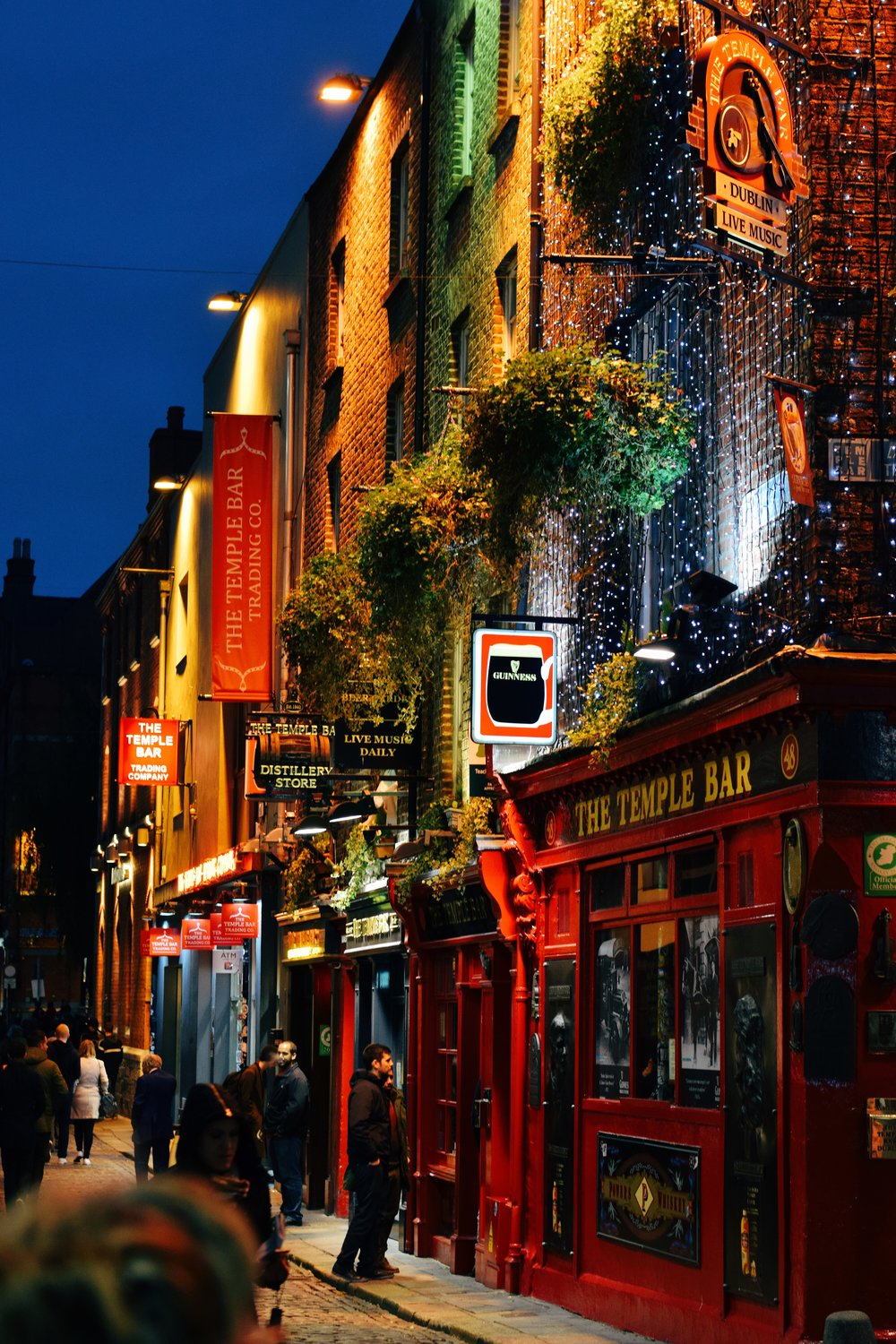 The Temple Bar (Nikon D3300, 50mm, f/4, 1/60 sec, ISO 800 image processed with VSCO E1 preset)