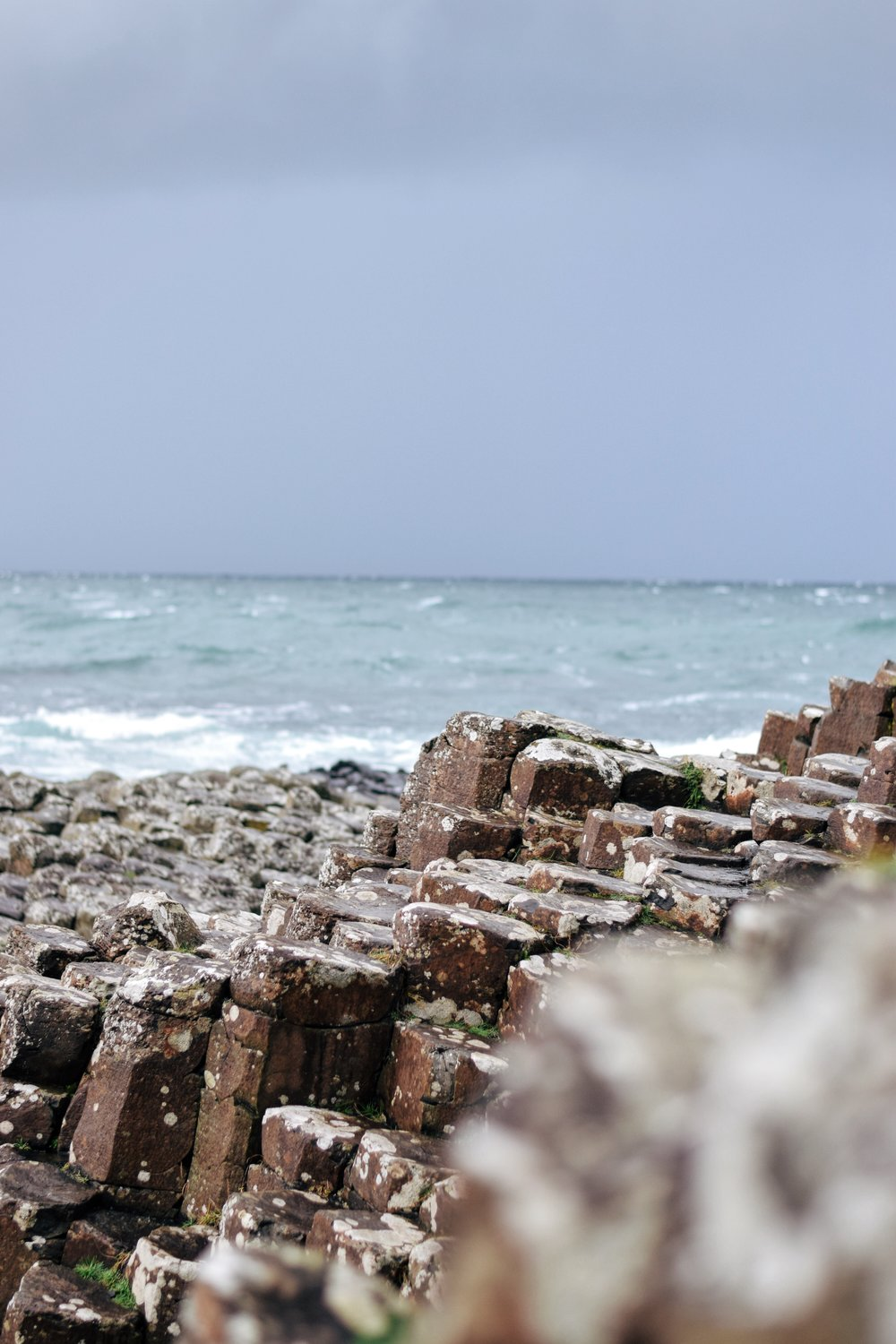 Basalt Columns at Giant's Causeway ( Nikon D3300, 50mm, f/2, 1/1250 sec, ISO 400 processed with VSCO E1 preset)
