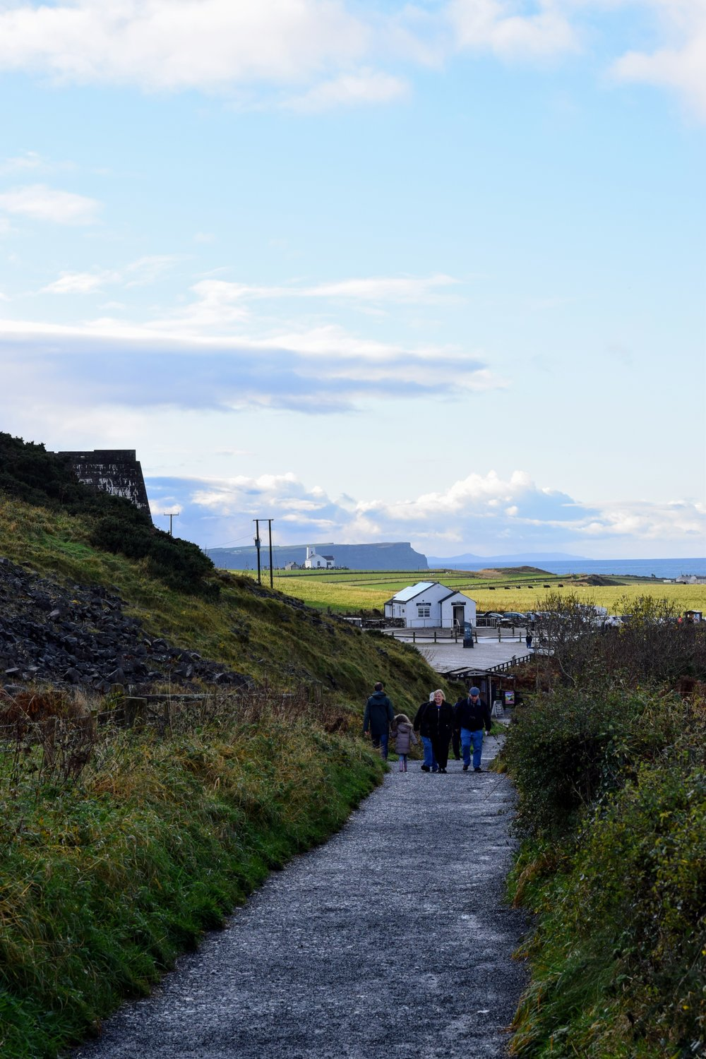 Path leading to  Carrick -a- Rede  in Ballintoy.  (Nikon D3330, 50mm, f/8, 1/  250 sec, ISO 280  )