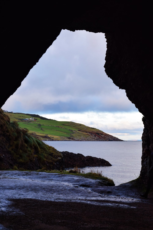 Cushendun Caves   (Nikon D3330, 50mm, f/8, 1/250 sec, ISO 400 processed with   VSCO S2 preset  )