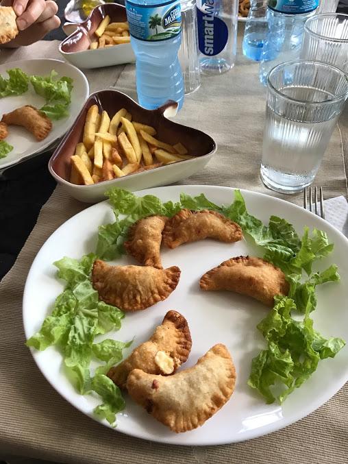 Empanadas at a Restaraunt