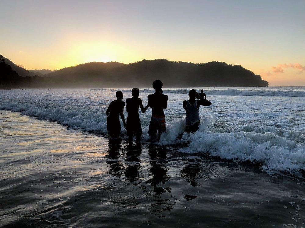 'Black Boys'  Las Cuevas Beach, Trinidad 12/10/17 @ 5:35PM