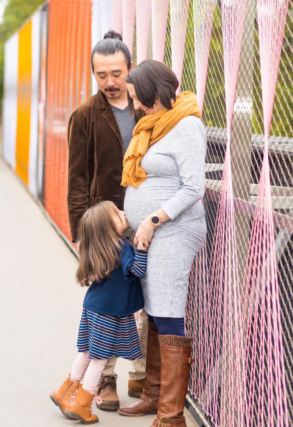 Tran Family Maternity Shoot - Ponce City Market, Atlanta
