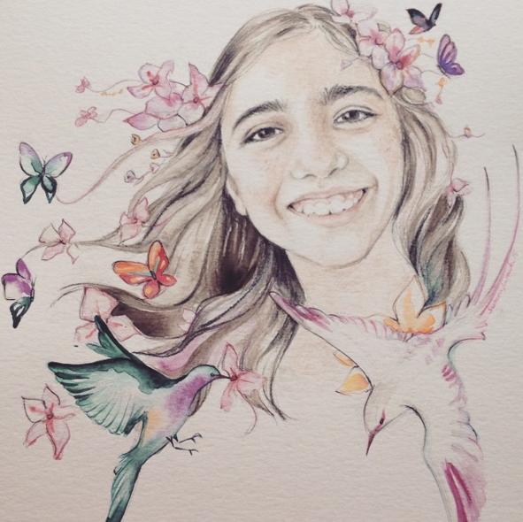 """Súper bonito!!!!!!Muchas gracias Susana!!!!""  Retrato personalizado"