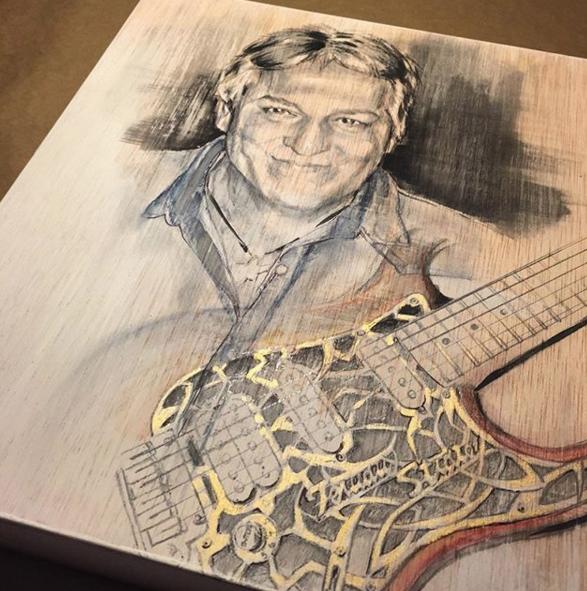Retrato personalizado sobre madera