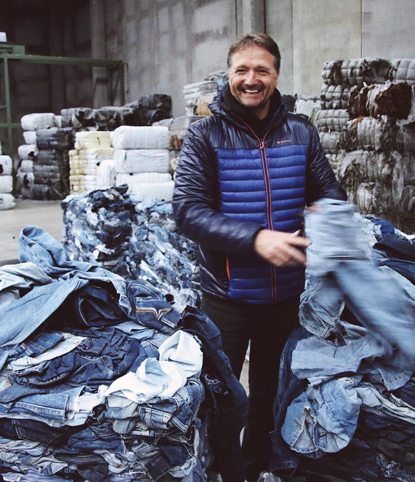 MUD Jeans has a circular recycles old denim into new jeans