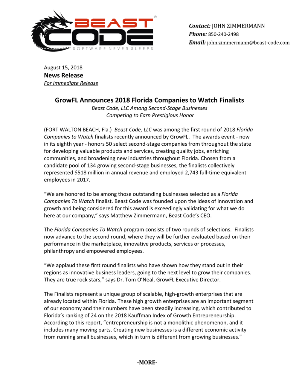 FINALIST RELEASE GrowFL Announces 2018 Florida Companies to Watch Finalists-1.png