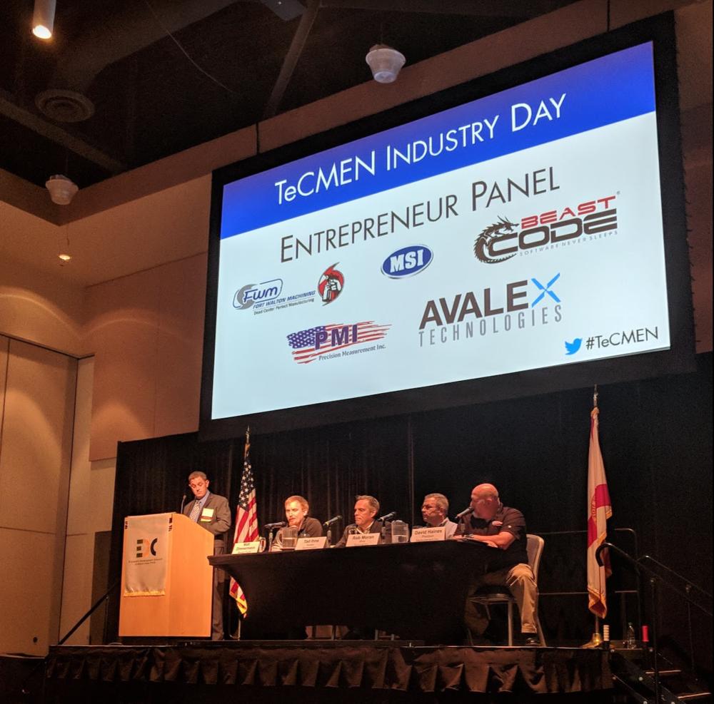 CEO, Matthew Zimmermann, sitting with the 2018 Entrepreneur Panel