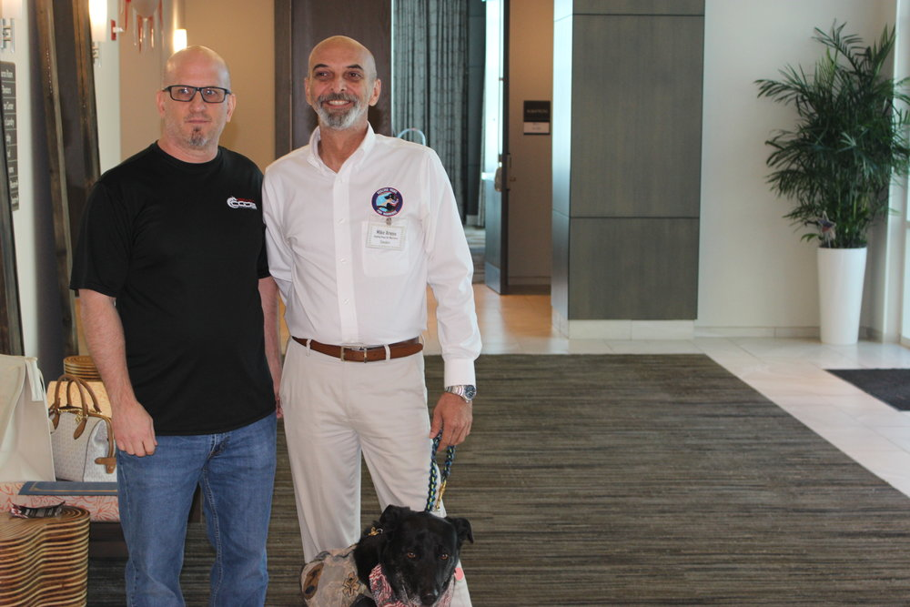 Beast Code COO, John Zimmermann, with Mike Arena, Healing Paws for Warriors speaker.