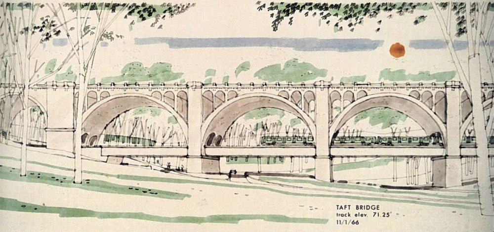 Harry Weiss' bridge idea. weiss & Associates drawing