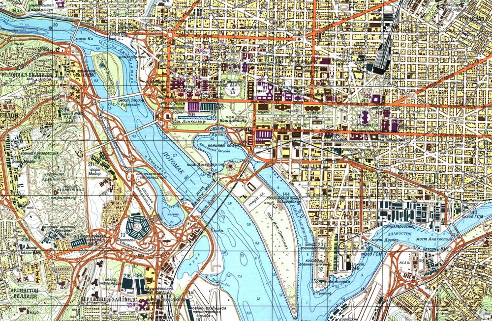 Hyper Detailed Soviet Maps Of Washington Architect Of The Capital - Washington on the us map