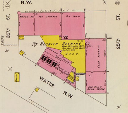 THE HEURICH BREWERY SITE. SANBORN FIRE INSURANCE MAP
