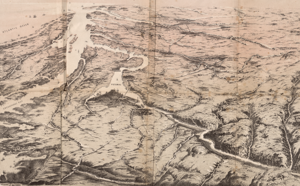 PRUSSIAN WAR MAP OF WASHINGTON, MARYLAND AND VIRGINIA.  LIBRARY OF CONGRESS  IMAGE