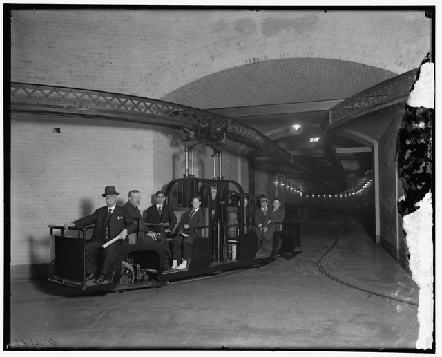 THE 1915 SENATE SUBWAY. ARCHITECT OF THE CAPITOL PHOTO