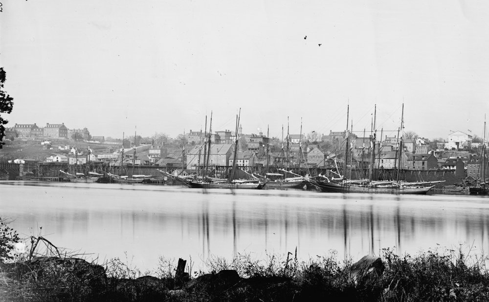 THE PORT OF GEORGTOWN CIRCA 1865.  WILLIAM MORRIS SMITH  PHOTO