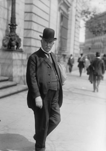 Charles Glover outside Riggs Bank in 1915. Library of Congress photo