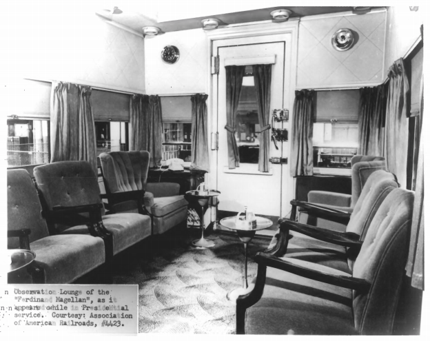 Observation lounge. Association of American Railroads photo