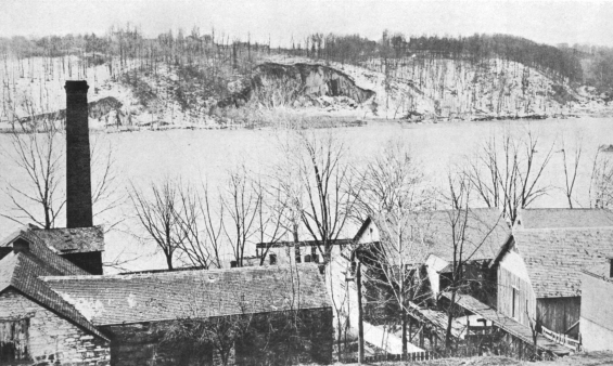 Columbia Foundry in winter. Washington Historical Society photo