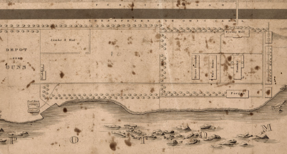 Plan of the Columbia Foundry.  Library of Congress  map