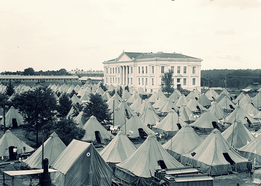 Tents on the American University campus. Library of Congress photo