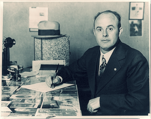 George L. Cassiday in 1930.  Underwood & Underwood  photo