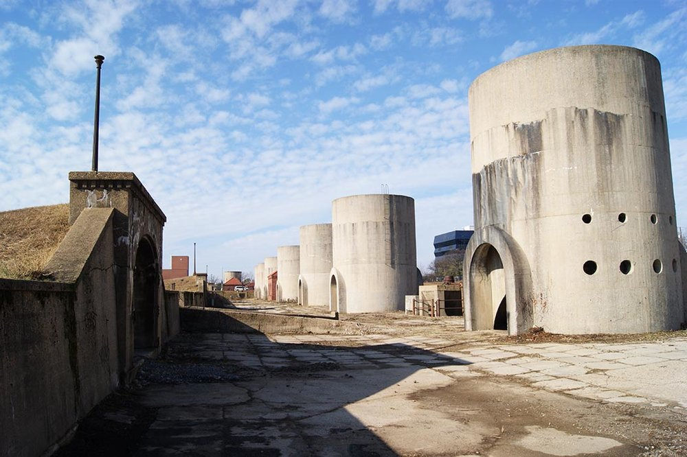 All of the sand silos will be retained. Elliot Carter photo